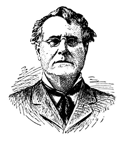 Edward Blake 1833 to 1912 he was Canadian statesman the second premier of Ontario and leader of the liberal party of Canada vintage line drawing or engraving illustration