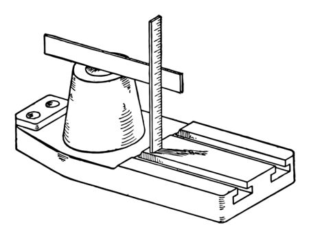 Measuring Castings using Straight Edge is the dimensions of the casting and measure the critical dimensions which is possible and particularly drift, vintage line drawing or engraving illustration.