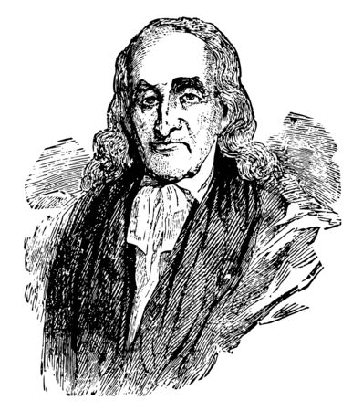 William White 1748 to 1836 he was the first and fourth presiding bishop of the episcopal church of the United States vintage line drawing or engraving illustration