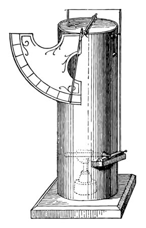 This illustration represents Alcoholic Furnace vintage line drawing or engraving illustration.
