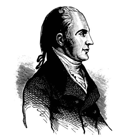 Aaron Burr 1756 to 1836 he was an American politician third Vice President of the United States from 1801 to 1805 attorney general and U.S. senator from the state New York vintage line drawing or engraving illustration