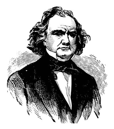 James Murray Mason 1798 to 1871 he was a United States representative and senator from Virginia vintage line drawing or engraving illustration Illustration