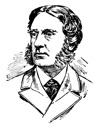 George William Curtis 1824 to 1892 he was famous American writer and public speaker famous for Nile notes of a Howadji vintage line drawing or engraving illustration