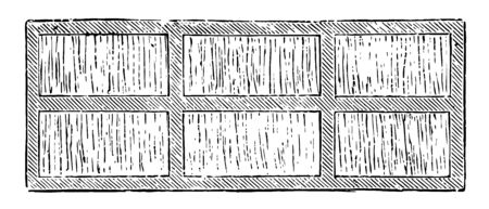 This illustration represents Straw Screen for Covering Mushroom Bed where straw screens are excellent movable coverings vintage line drawing or engraving illustration. Illustration