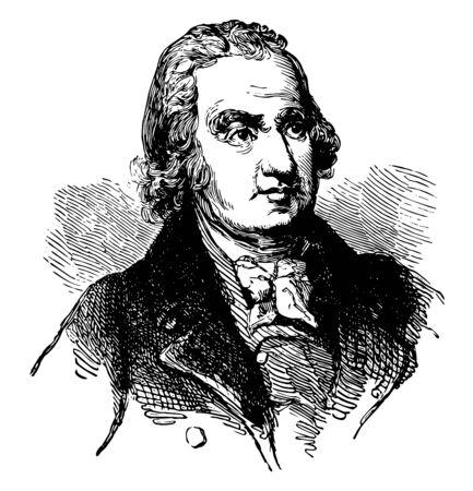 John Eager Howard de 1752 a 1827 fue un político soldado estadounidense senador de los Estados Unidos de Maryland y quinto gobernador de Maryland línea vintage de dibujo o ilustración de grabado