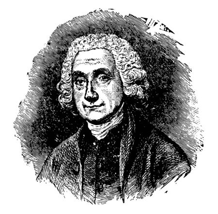 Joseph Priestley 1733 to 1804 he was an English theologian English Dissenters clergyman natural philosopher chemist innovative grammarian and liberal political theorist vintage line drawing or engraving illustration 版權商用圖片 - 133083933