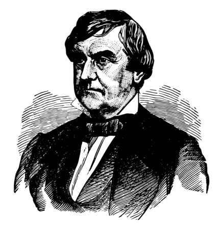 General Joseph Holt 1807 to 1894 he was a leading member of the Buchanan administration and judge advocate general of the United States army vintage line drawing or engraving illustration 向量圖像
