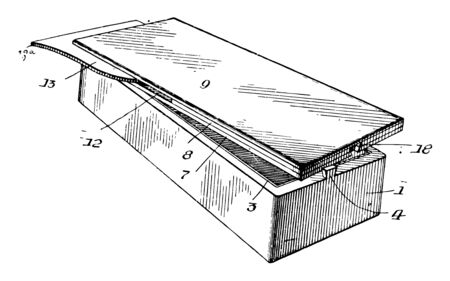 This illustration represents Rectangular Box vintage line drawing or engraving illustration.
