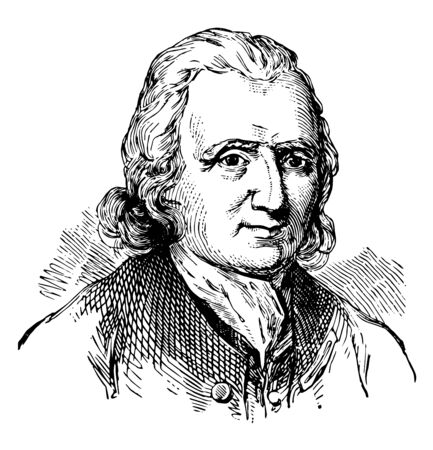 Cadwallader Colden 1688 to 1776 he was a physician natural scientist and lieutenant governor for the province of New York vintage line drawing or engraving illustration