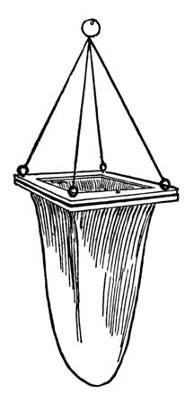 This diagram represents Strainer vintage line drawing or engraving illustration.
