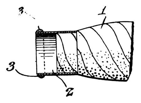 This illustration represents Cigar Lighter vintage line drawing or engraving illustration. Çizim