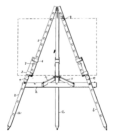 Art Easel are also may be decorative for display vintage line drawing or engraving illustration.