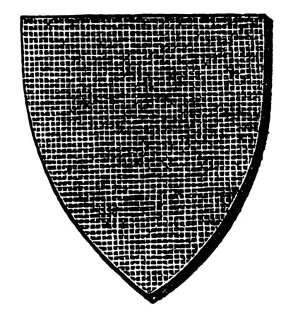 Sable Shield is shown by the crossing lines vintage line drawing or engraving illustration. Stock fotó - 132815866