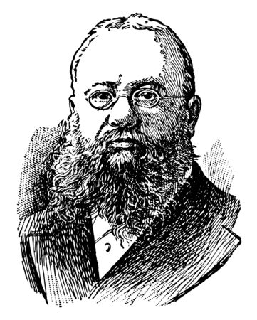 John Fiske 1842 to 1901 he was an American philosopher and historian who lectured across America lecturing on scientific philosophic historical thoughts such as evolution vintage line drawing or engraving illustration Çizim
