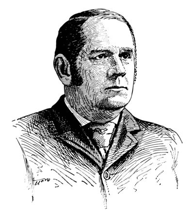 Marcus Alonzo Hanna 1837 to 1904 he was an American businessman and republican politician United States senator from Ohio and chairman of the republican national committee vintage line drawing or engraving illustration Stock Illustratie