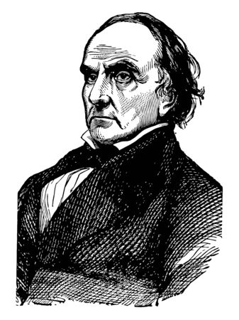 Daniel Webster 1782 to 1852 he was an American politician the United States house of representative and senator from Massachusetts vintage line drawing or engraving illustration Illustration