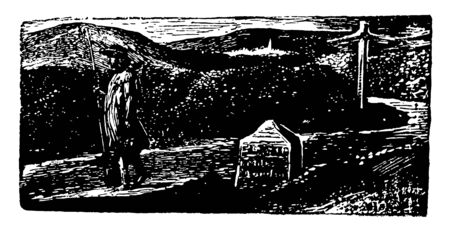 Phillips Pastoral was created by English poet painter and printmaker William Blake vintage line drawing or engraving illustration.