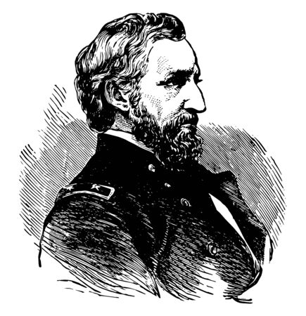 William Starke Rosecrans 1819 to 1898 he was an American inventor politician and United States army officer and union general during the American civil war vintage line drawing or engraving illustration