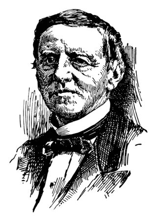 Samuel Jones Tilden 1814 to 1886 he was the 25th governor of New York and the democratic candidate for president in the disputed election of 1876 vintage line drawing or engraving illustration