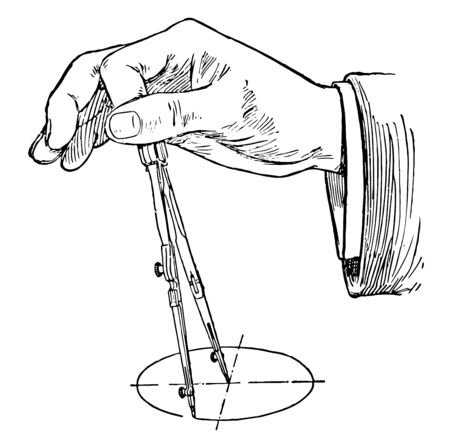 Compass Finger Position is the finger position where placement and pressure for your left hand is designated point on the ground vintage line drawing or engraving illustration. Vetores