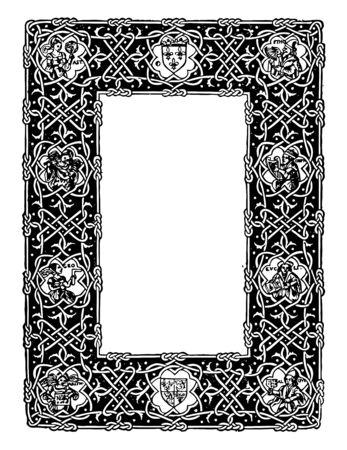 オーンスファインは1534年にフランスの数学者と地図製作者オーンス・ファインによって設計され、それはすべての周りの巻物のデザインとフィギュ