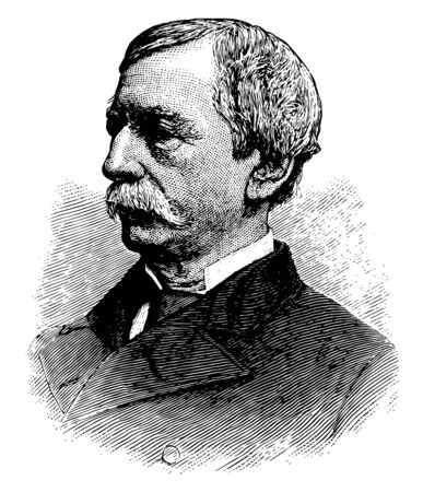 Fernando Wood 1812 to 1881 he was an American politician of the democratic party and mayor of New York city vintage line drawing or engraving illustration