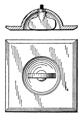 Screw Shading is the surfaces of a screw in the socket and starting curve was not properly aligned, it have an expression and a ramp to displacement map, vintage line drawing or engraving illustration.