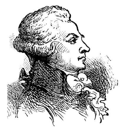Maximilien Robespierre 1758 to 1794 he was a French lawyer politician and one of the most influential figures associated with the French Revolution vintage line drawing or engraving illustration Ilustração