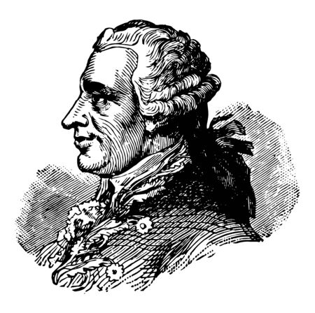 Conrad Alexandre Gérard 1729 to 1790 he was a French diplomat famous as the first French diplomatic representative to the United States vintage line drawing or engraving illustration Çizim