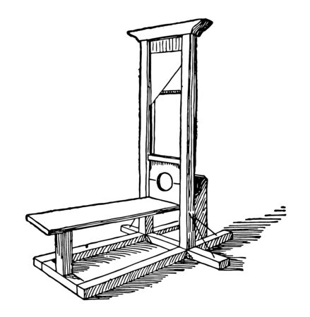 This is an old time machine that was used to punish vintage line drawing or engraving illustration.