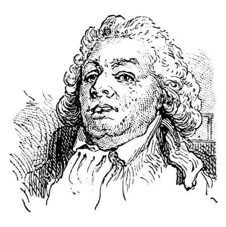Mirbeau 1749 to 1791 he was a leader of the early stages of the French revolution vintage line drawing or engraving illustration