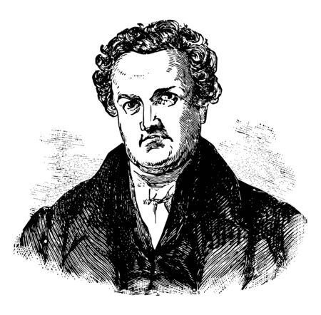 DeWitt Clinton 1769 to 1828 he was an American politician United States senator mayor of New York city and sixth governor of New York vintage line drawing or engraving illustration