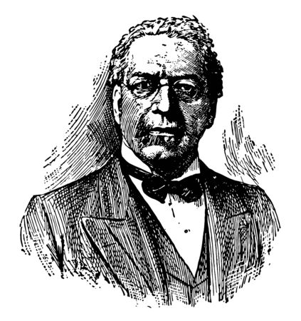 Samuel Gompers 1850 to 1924 he was an American labour union leader and a key figure in American labour history one of the founders and first president of the American Federation of Labour vintage line drawing or engraving illustration Illustration