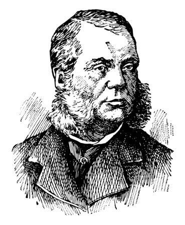 Charles James Folger 1818 to 1884 he was an American lawyer politician and U.S. secretary of the Treasury from 1881 to 1884 vintage line drawing or engraving illustration Illusztráció