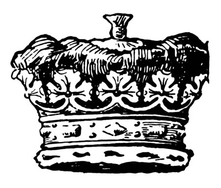 Duke is a coronet vintage line drawing or engraving illustration. Banque d'images - 132812903