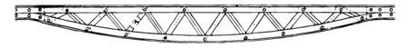 This illustration represents Light Inverted Bow String Girder, vintage line drawing or engraving illustration.