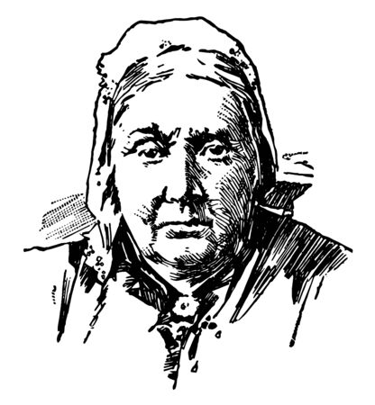 Julia Ward Howe 1819 to 1910 she was an American poet an advocate for abolitionism social activist and author famous for writing The Battle Hymn of the Republic vintage line drawing or engraving illustration Foto de archivo - 133084303