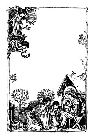 English Illustrated Magazine was created by English artist Louis Davis vintage line drawing or engraving illustration.