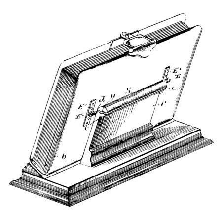 Easel or Album are manufactured with clear acrylic, vintage line drawing or engraving illustration.