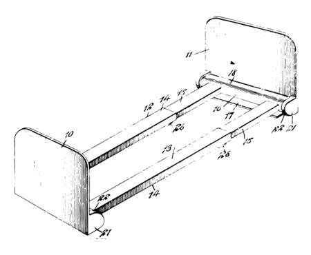 Individual shelf to hold book vintage line drawing or engraving illustration Ilustrace