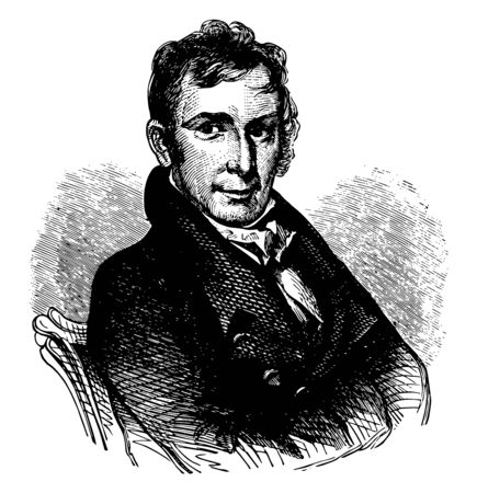 William Henry Winder 1775 to 1824 he was an American soldier lawyer and a controversial general in the U.S. army vintage line drawing or engraving illustration Illustration