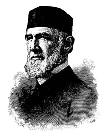 James Buchanan Eads 1820 to 1887 he was an American civil engineer and inventor holding more than 50 patents vintage line drawing or engraving illustration