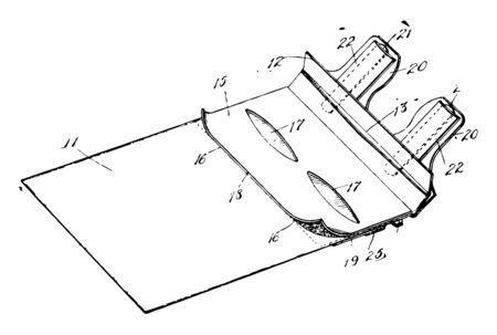This illustration represents Mailing Envelope vintage line drawing or engraving illustration. 일러스트