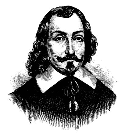 Samuel de Champlain 1574 to 1635 he was a French explorer navigator cartographer soldier geographer diplomat and founder new France and Quebec city famous as the father of new France vintage line draw  イラスト・ベクター素材