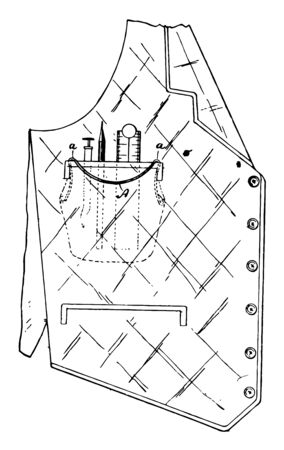 Pocket Protector is designed to fit neatly inside the breast pocket of a mans shirt vintage line drawing or engraving illustration.