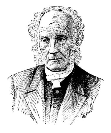James McCosh 1811 to 1894 he was a prominent philosopher of the Scottish school of common sense and president of Princeton University vintage line drawing or engraving illustration