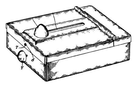 This illustration represents Ticket or Card Case which is used to hold tickets vintage line drawing or engraving illustration. 向量圖像