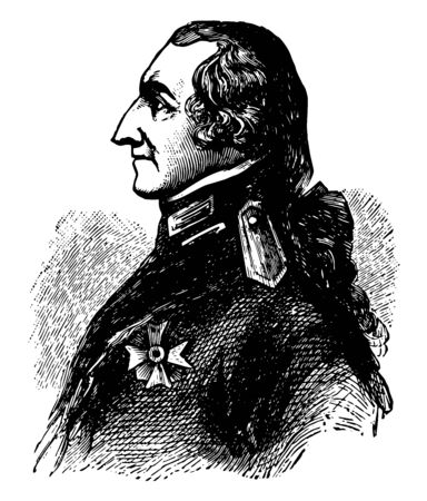 Count Rumford 1753 to 1814 he was an American physicist and inventor vintage line drawing or engraving illustration Ilustrace