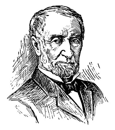 Joseph Gurney Cannon 1836 to 1926 he was an American politician from Illinois lawyer legislator leader of the republican party and speaker of the U.S. house of representatives vintage line drawing or engraving illustration Illustration