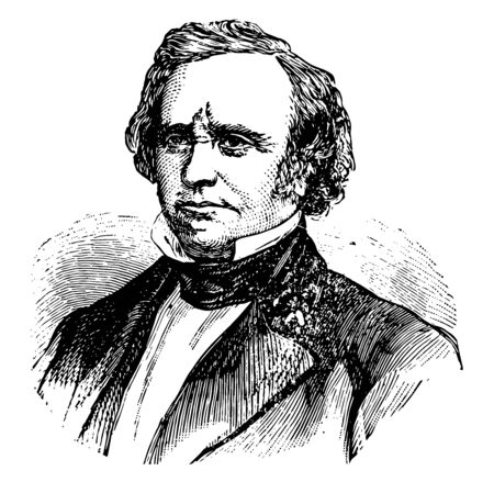 Henry Wilson 1812 to 1875 he was the vice president of the United States and United States senator from Massachusetts vintage line drawing or engraving illustration Illustration